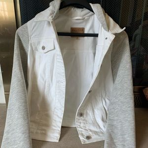 Holister White and Grey Jean jacket